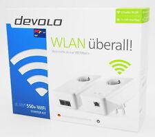 Devolo dLAN 550+ WiFi WLAN Starter Kit - Powerline weiß/white - Neu & OVP