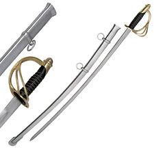 39 Inch Handmade 1860 Saber American Light Cavalry Replica Sword