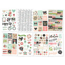 Simple Stories BLOOM Collection 4x6 cardstock stickers #10057