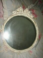 vintage Round shabby chic mirror with bow