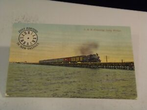 L. & N. Crossing Long Bridge New Orleans, La.,  Postcard 1/14/21