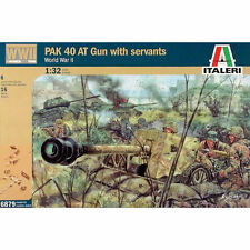 ITALERI WWII German Pak40 At Gunw/serv 6879 1:32 Figures Kit