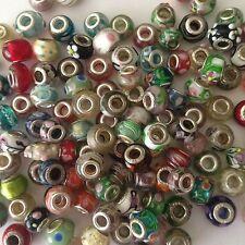 45 MURANO GLASS EUROPEAN BEADS FITS MOST EUROPEAN BRACELETS