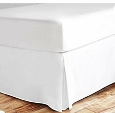 Zen Bamboo White Bed Skirt - King Size - New - No Package - Never Used!