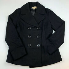 Women (Small) Michael Kors Black Wool Pea coat Double Breasted Jacket