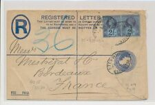 LM74050 Great Britain 1897 to France registered good cover used
