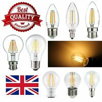 LED Filament Candle Globe GLS Golf Light COB Bulbs E14 B22 E27 Pack of 2 5 10