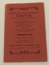 1947 Nov 21 Chateau De Saint-Felix Fr Provincial Parke-Bernet Auction Catalog