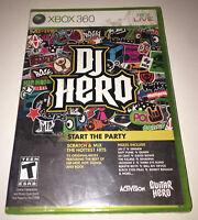 DJ Hero (Microsoft Xbox 360, 2009) Brand New Factory Sealed 2B