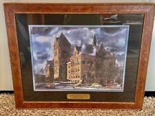 "Professionally Framed Print ""Old Main"" Wayne State Univ. by Wm. A. Bostick"
