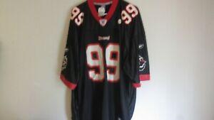 NFL Reebok Tampa Bay Bucs Buccaneers Warren Sapp #99 Black Football Jersey XXL