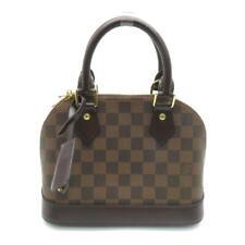 Auth Louis Vuitton Alma BB Damier Ebene Canvas Shoulder Handbag N41221