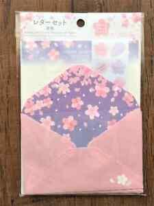 Sakura Letter Sheet Cherry Blossom Envelope Set Stationery Japanese