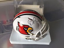 Dave Ragone Louisville Cardinals signed autographed mini football helmet