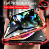 For iPhone 11 Pro Max XR XS X Magnetic Adsorption Glass Hybrid Clear Case Cover