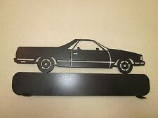 CUSTOM  EL CAMINO MAILBOX TOPPER SIGN (NO NAME) STEEL BLACK POWDER COAT