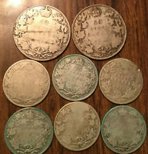 LOT OF SILVER CANADA 50 CENTS AND 25 CENTS HALVES AND QUARTERS 8 COINS TOTAL
