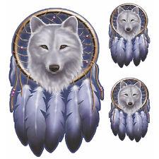 Aufkleber Set Traumfänger Wolf Dream Catcher Sticker 15x10cm Airbrush Motorrad