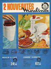 Publicité 1965  MOULINEX électroménager moulin à café hachoir