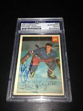 Bob Chrystal Signed 1954-55 Parkhurst Rangers Rookie Card PSA Slabbed #83426962