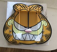 HTF Very Rare Enesco 100% Pure Garfield Wood Door Chime Scary / Halloween Face