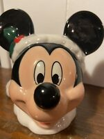 Mickey Mouse Santa Claus Ceramic Tealight Candle Holder Christmas Disney Parks