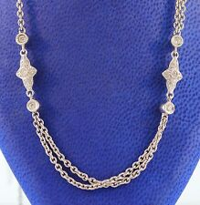14K White Gold Necklace with Diamonds 0.85CT