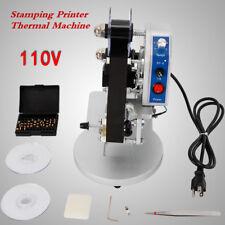 Electric Manual Hot Foil Stamping Printing Machine Ribbon Date Code Printer 110v