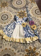 Giggle Moon Spring Toddler Dress + Headband Size 24 Months
