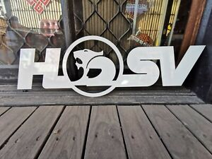 Small Steel Holden HSV Signs - Mancave decor garage shed display bar wall