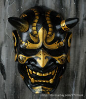 BB GUN AIRSOFT MASK HANNYA KABUKI HALLOWEEN COSTUME ONI DEMON EVIL COSPLAY MA243