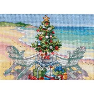 Counted Cross Stitch Kit CHRISTMAS ON THE BEACH Dimensions Gold Collection