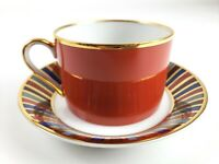 FITZ & FLOYD RAMSES CUP AND SAUCER SET  1977