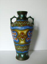 "Dutch Holland Gouda Large Art Pottery Vase 9 3/4"""