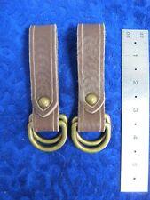 one pair medium brown Sca Larp skirt hikes leather ring garb renaissance faire