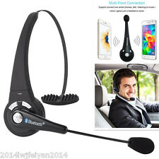 Wireless Bluetooth Stereo Noise Canceling Truck Driver Headset Headphones w/ Mic