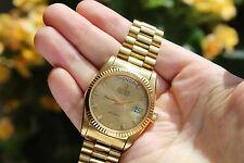 Swiss Bulova Super Seville Day Date Automatic Watch 1980 Vintage