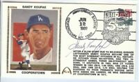 Sandy Koufax Signed Autographed First Day Cover Cachet 1989 Dodgers JSA U06613
