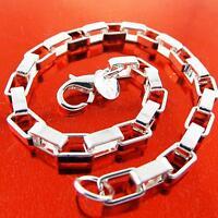 Bracelet Bangle Genuine Real 925 Sterling Silver S/F Solid Unisex Link Design