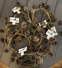 Pine Cone Rustic Garland Swag 6 ft. long each. Lot Of 6