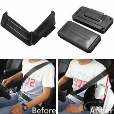 2x Black Car Auto Seat Adjustable Comfort Safety Belt Stopper Clip Extender