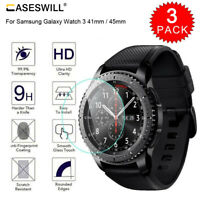 For Samsung Galaxy Watch 3 41mm / 45mm HD-Clear Tempered Glass Screen Protector