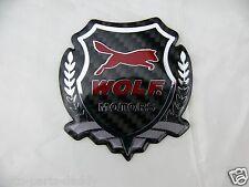 Wolf Ford Motorcraft Real Carbon Fiber Auto Badge Shield emblem