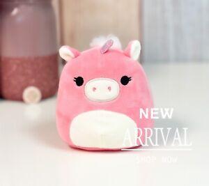 "*SALE* KellyToy Squishmallow 4"" Zoe the Pink Unicorn NEW HTF Plush Toy Animal"