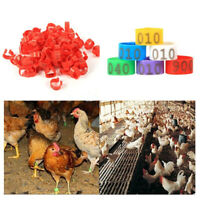 UK_ TH_ 100Pcs 001-100 Numbered Poultry Chickens Ducks Leg Bands Rings Birds Too