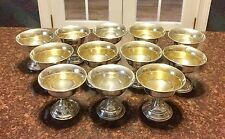 12 Sterling Silver MHF Fred Hirsch Sherbet Dish Cups Vintage/Antique Scrap 893g