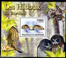 Burundi 2011 MNH Sheet, Owls, Bran Owl, Birds of prey