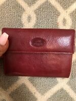 Mancini Leather Goods Womens Gemma Clutch Wallet Red