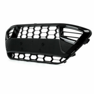 FORD FIESTA MK7 GLOSS BLACK ASIAN STYLE SPORT FRONT BUMPER LOWER CENTRE GRILLE