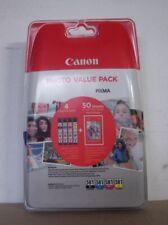 Canon CLI 581bk 581c 581m 581y photo Value Pack tinta + papel fotográfico 2106c005